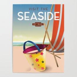 Visit the Seaside vintage travel poster. Poster