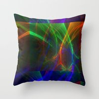 lightning Throw Pillows featuring lightning by donphil
