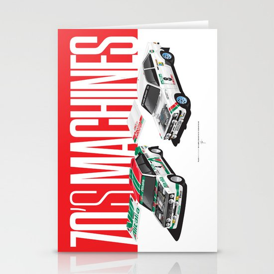 70's Machines Stationery Cards