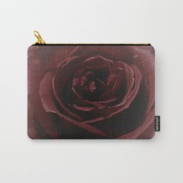 Textured Red Rose Carry-All Pouch