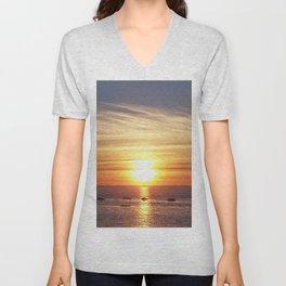 Gaspesie Sunset Unisex V-Neck