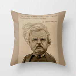 GK Chesterton Throw Pillow