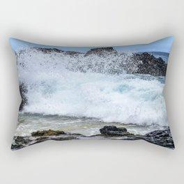 Crashing Waves In Hidden Hawaiian Cove Rectangular Pillow
