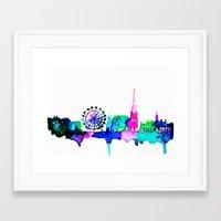 vienna Framed Art Prints featuring Vienna by Talula Christian