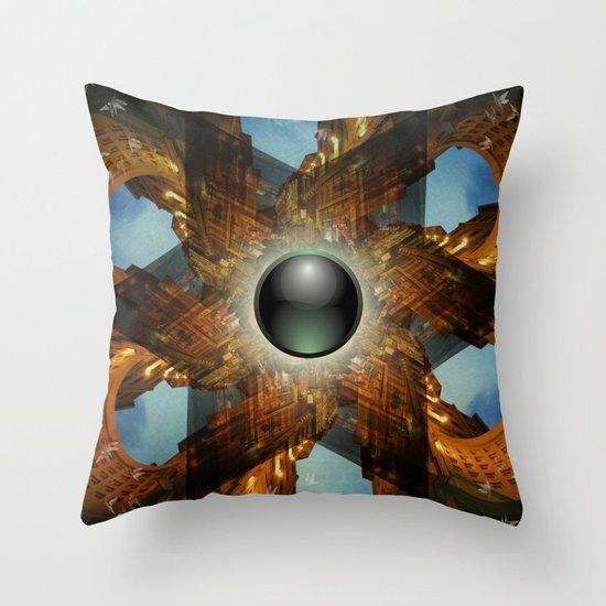 Emerald Chapel Throw Pillow