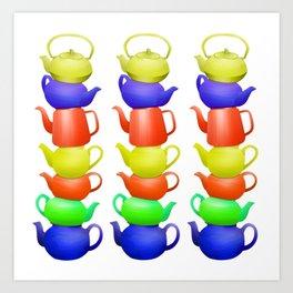 Teapot  Pattern Art Print