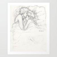 burdge Art Prints featuring Dream a Little Dream by Burdge