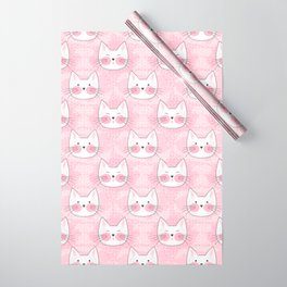 Little Girls Birthday Kitty Cats Wrapping Paper