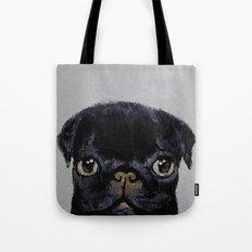 Black Pug Tote Bag