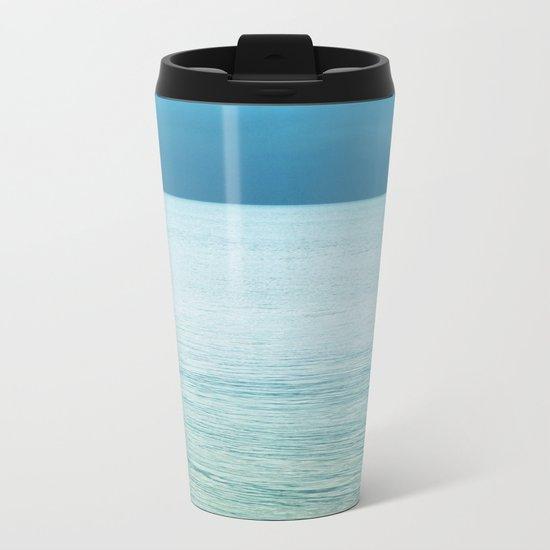 Softly the Sea Metal Travel Mug
