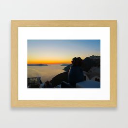 Santorini xm Framed Art Print