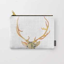 Golden Stag Watercolor Carry-All Pouch