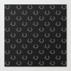 Simple Wreath Pattern Dark Canvas Print
