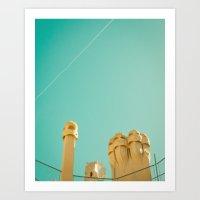 Barcelona Mila Art Print