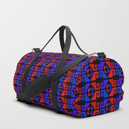 Mexican Aztec Geometric Pattern Dark Duffle Bag