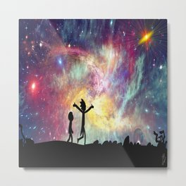 The universe is a pretty big place. If it's just us, seems like an awful waste of space Metal Print