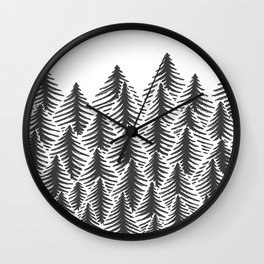 Pine Party Wall Clock