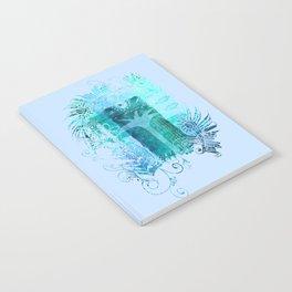 Tropical Summer Blue Fantasy Art Notebook