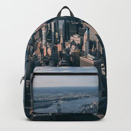 aerial photography high-rise building Backpack