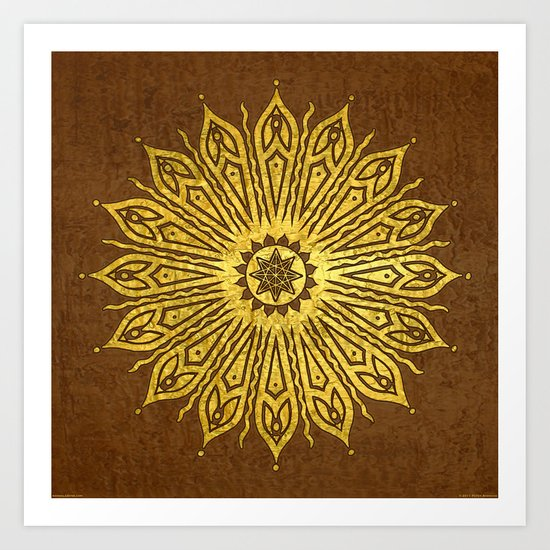 ozorahmi copper mandala Art Print