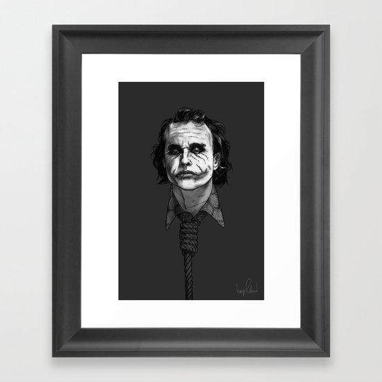 Now I'm Always Smiling // The Dark Knight Framed Art Print