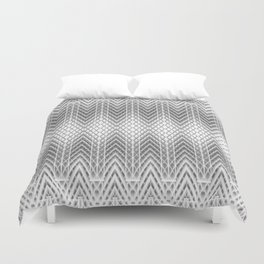 Cool Silver Grey Frosted Geometric Design Duvet Cover