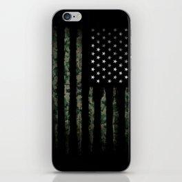 Khaki american flag iPhone Skin