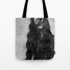Black and white movement Tote Bag