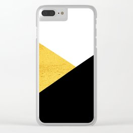 Gold & Black Geometry Clear iPhone Case