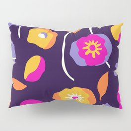 Abstract Dancing Poppies Pillow Sham