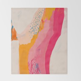 Abstract Line Shades Throw Blanket