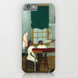 African American Masterpiece 'Saturday Morning Breakfast' by Horace Pippin iPhone Case