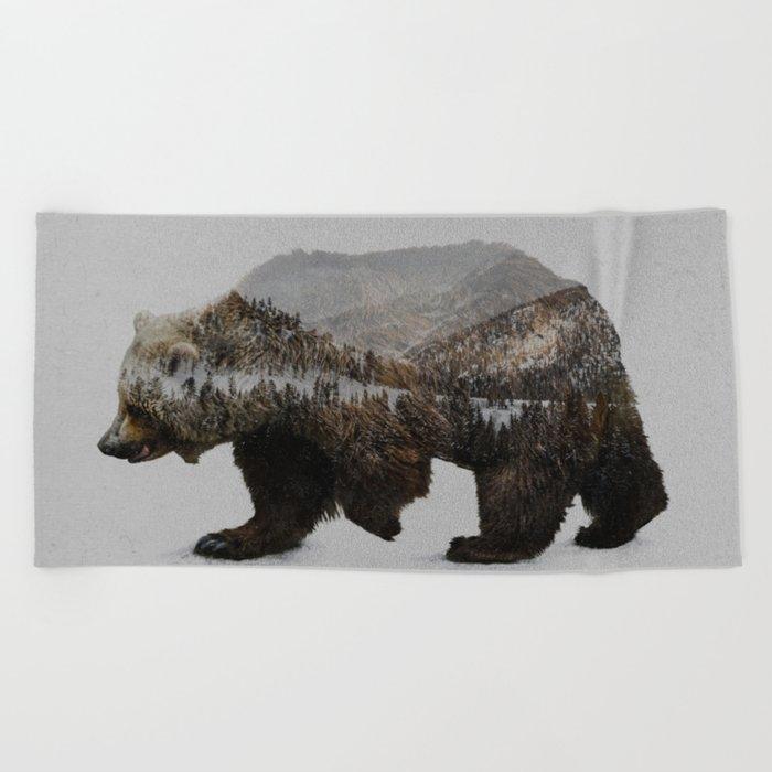 The Kodiak Brown Bear Beach Towel