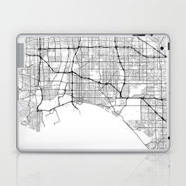 Minimal City Maps - Map Of Long Beach, California, United States Laptop & iPad Skin