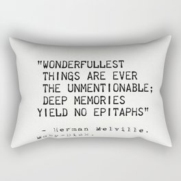 Moby Dick Herman Melville quote 18 Rectangular Pillow