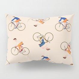 Bike Pattern Pillow Sham