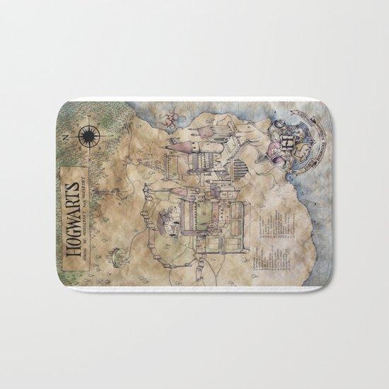 Hogwarts Map Bath Mat