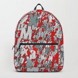 The letter matrix RED Backpack