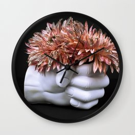 A Handful of Flowers Wall Clock