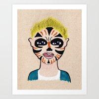 evan peters Art Prints featuring Evan by Feral Doe