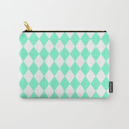Diamonds (Aquamarine/White) Carry-All Pouch