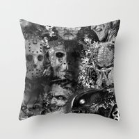 horror Throw Pillows featuring Horror by Sinister Star