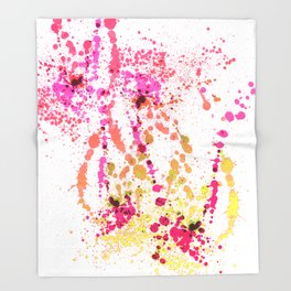 Uplifting Heat - Abstract Splatter Style Throw Blanket