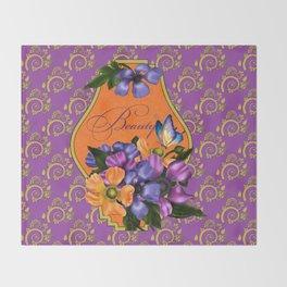 Paisley Anemones  Throw Blanket