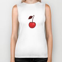 cherry Biker Tanks featuring Cherry by René Barth