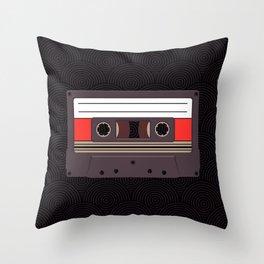 Compact Cassette Throw Pillow