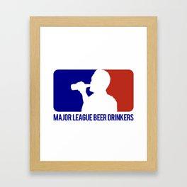 Major League Beer Drinkers Framed Art Print