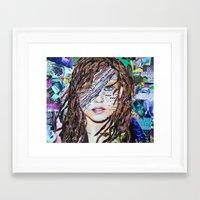 ali gulec Framed Art Prints featuring Ali by Katy Hirschfeld