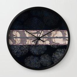 Sea Urchin Contrast Obi Print Wall Clock