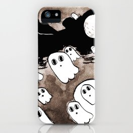 Inktober: Ghosts iPhone Case